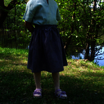 Girl's linen skirt/wide skirt/linen clothing/linen dress/girls clothing